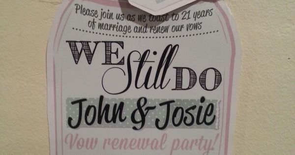 50th Wedding Vow Renewal Invitations: Our Vow Renewal Invites :-)