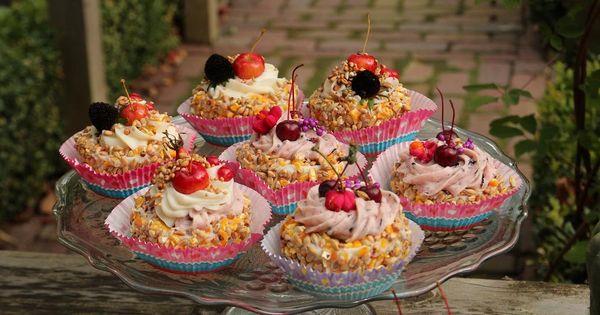 Gebakjes en cupcakes vogeltaarten boek hoe maak ik een natuurlijke vogeltaart - Deco halloween tafel maak me ...