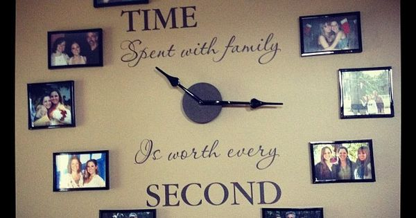 The Time Spent with Family clock makes a great feature wall in