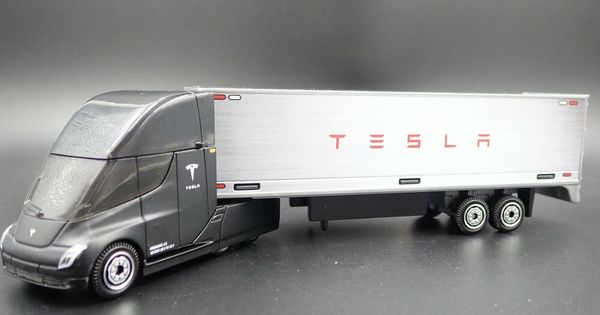 Tesla Semi With Box Trailer 1 64 Mb Scale Collectible Diorama Diecast Model Car Matchbox Tesla Diecast Model Cars Car Model Scale Models Cars