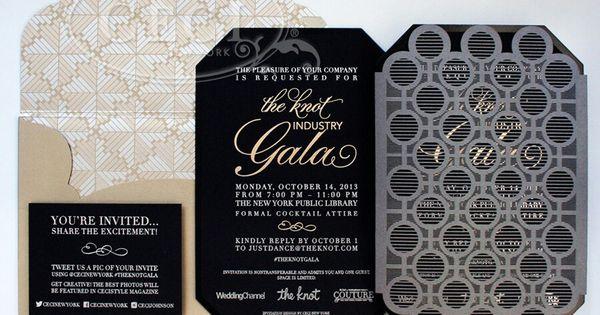 Gala invite   Crafts: invites   Pinterest