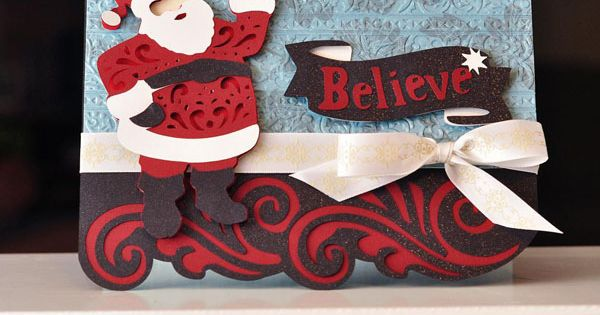 cricut christmas card ideas | Quilted Christmas Cricut Cartridge Project Idea 1