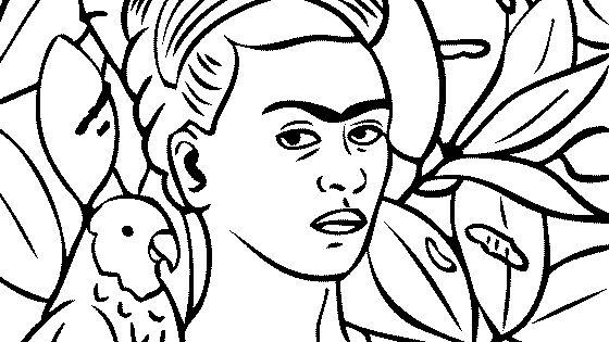 Frida Kahlo Dibujos Para Colorear