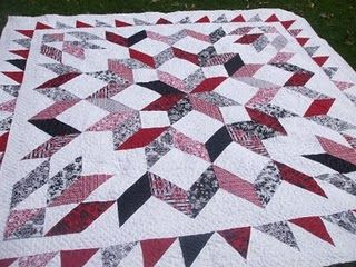 Queen size pattern to Full size | Star quilt patterns, Quilts