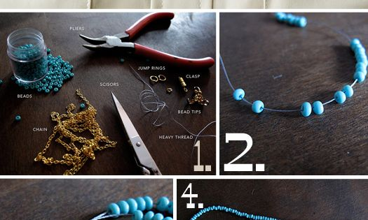 DIY: braided necklace @Never Land something to do with all your seed