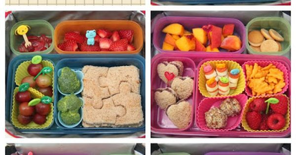 What creative ideas for our kids lunch or our self! Cute, healthy,