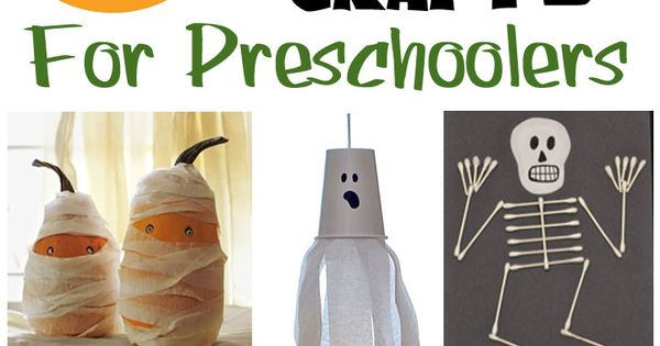 31 Easy Halloween crafts for preschoolers. TONS of great ideas that your