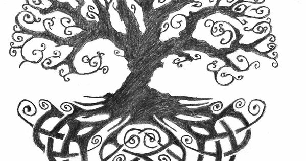 Celtic Tree of Life tattoo idea... possibly include a single red heart