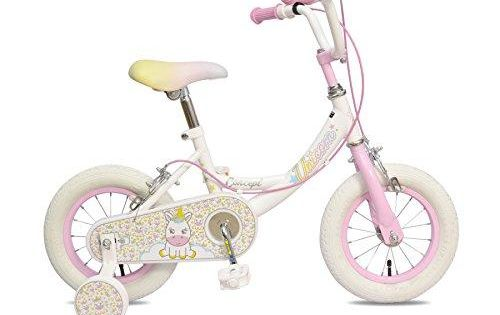 Girls Bike With Training Wheels 12 Inch Bicycle Kids Toddlers 2 3 5 4 Year Olds