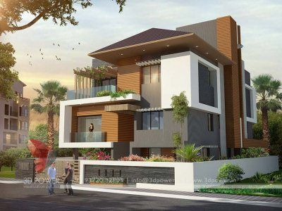 Bunglow Design 3d Architectural Rendering Services 3d Architectural Visualization In 2020 Modern Bungalow Exterior Modern Exterior House Designs Bungalow Exterior