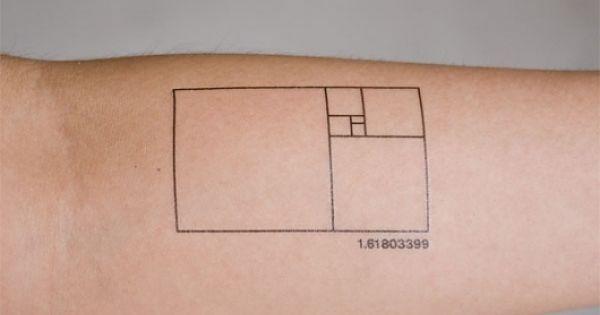 I've decided to use the Fibonacci golden ratio in a tattoo design