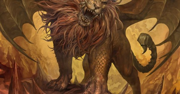 Manticore....... Lion And Scorpion With Wings Leo And