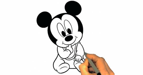 How To Draw A Cute Baby Ep2 Learn Draw Cute Baby Painting Cute Baby Mickey Mouse Coloring Pages Mickey Coloring Pages Coloring Books