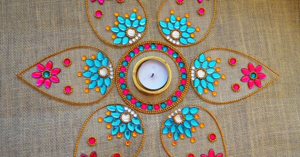 Diwali Rangoli Indian Rangoli Art New Year Party Decor By