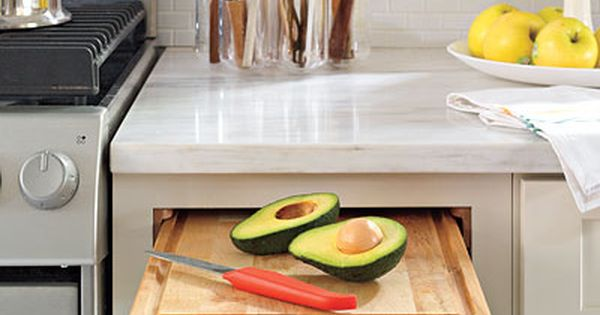 Pulte diy pro tip install a cutting board in a pullout for Diy cutting board storage