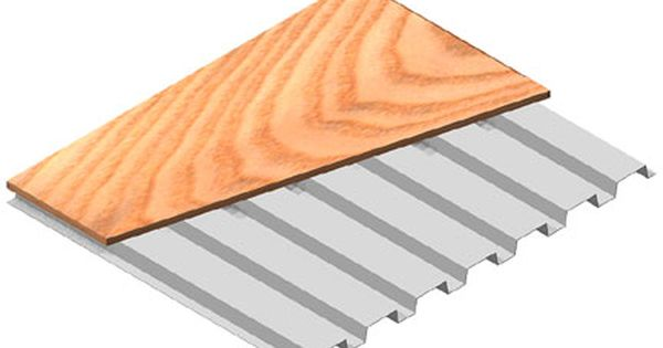 Roof Deck Plywood Top 20 Gauge Painted Steel Roof Deck With 3 4 Plywood Most Economical System Satisfactory For Most Mezza Decking Options Mezzanine Deck