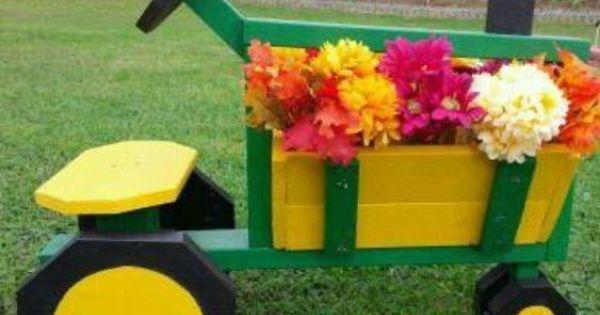 John Deere Flower Pots : Tractor flower box planter john deere boxes