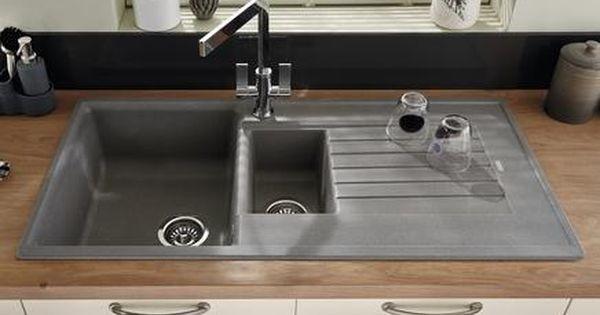 Lamona Grey Granite Composite 1 5 Bowl Sink Composite Kitchen Sinks Kitchen Inspiration Design Kitchen Remodel