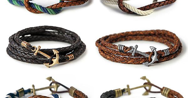 Anchor bracelets | Raddest Men's Fashion Looks On The Internet: http://www.raddestlooks.org