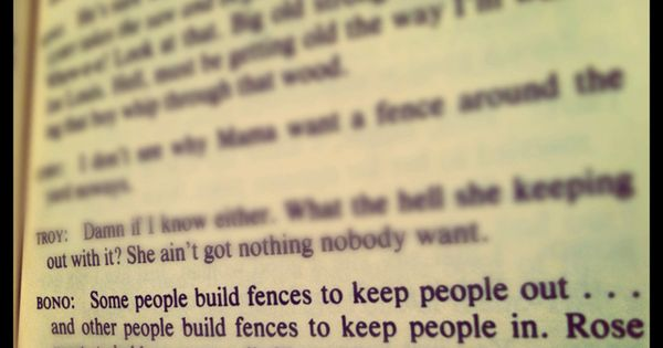 Fences by August Wilson Fences March 20-22, 2014 Pinterest