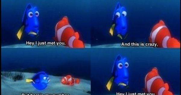 Carly Rae Jepsen meets Finding Nemo :)