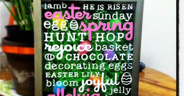 Easter Shadow Box cricut craft room craft. vinyl idea