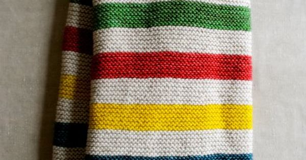 Knitting Pattern For Hudson Bay Blanket : How-To: Hudsons Bay-Inspired Knitted Crib Blanket Crib ...