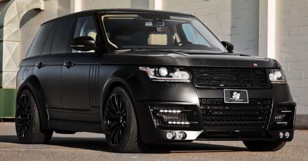 Matte Black Lumma Design Range Rover Clr R Machine