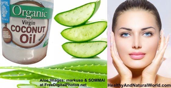 Coconut oil and facial skin darkening