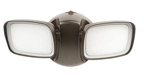 Feit Electric 25 Watt Bronze Outdoor Security Adjustable Dual Head Dusk To Dawn Photocell Sensor Integrated Led Flood Light S8dfl 850 Dd Bz Outdoor Flood Lights Bronze Led