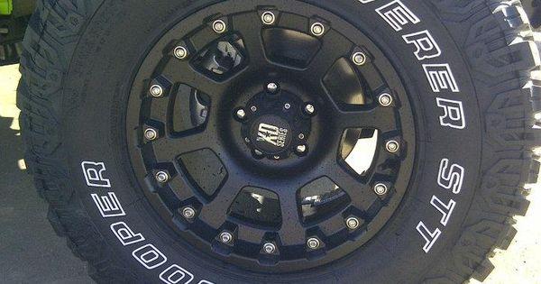 "Capital Dodge Edmonton >> 35 12.50 R17 Cooper tires, 17"" XD Black Strike rims   Capital Customs   Pinterest   Jeeps, Jeep ..."