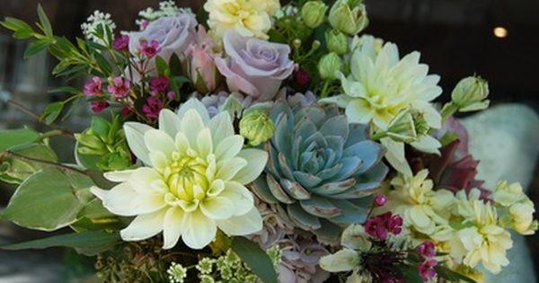Green Wedding Flowers - Weddings by Monday Morning Flowers
