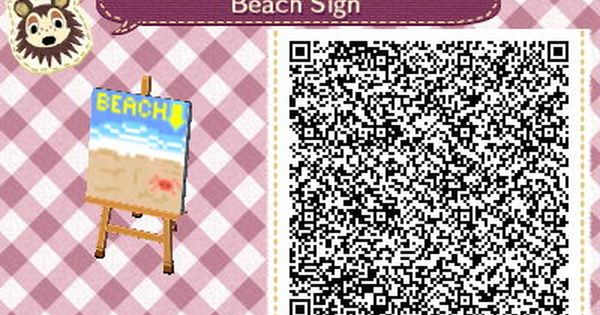 beach sign animal crossing new leaf qr code animal