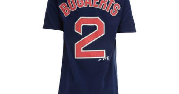 Boston Red Sox Xander Bogaerts Majestic Mlb Youth Official Player T Shirt Boston Red Sox Players Mlb Apparel Shirts