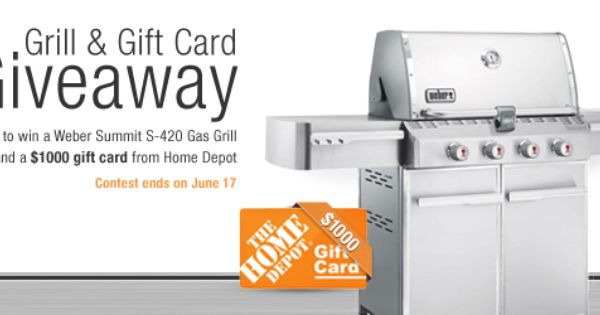 Win A Weber Summit S 420 Grill Contest Ends 4 17 Grilling Gifts Gift Card Giveaway Online Coupons