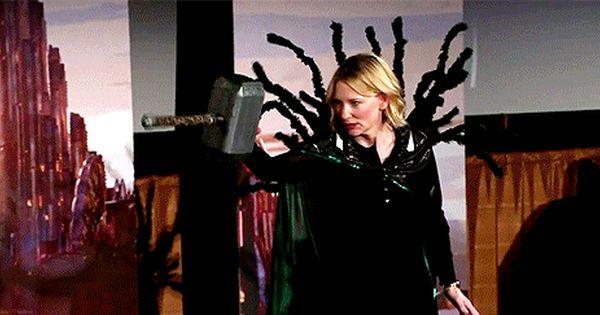 Cate Blanchett Hahahaha Thor Ragnarok Cast Loki Marvel