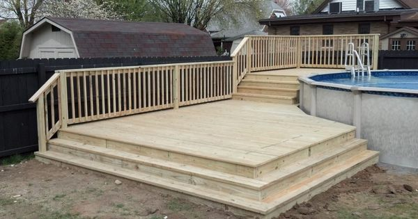 This Is A Custom Two Tiered Deck With Wrap Around Stairs