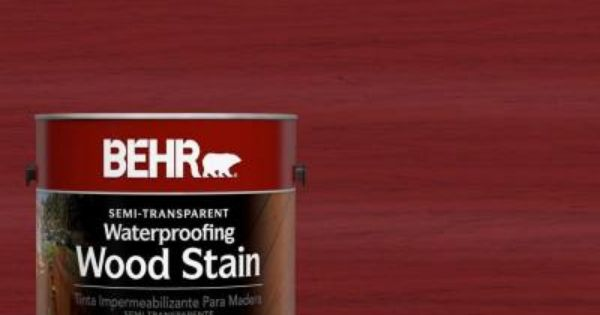 Behr 1 Gal Staining Wood Exterior Wood Stain
