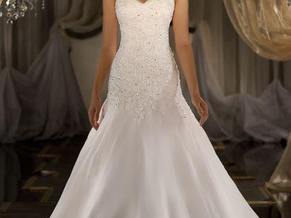 Martina Liana 411 Detail Image Silk Organza A-line designer wedding gown has