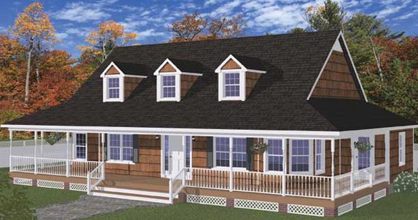 With Such Features As A Wraparound Front Porch And Small