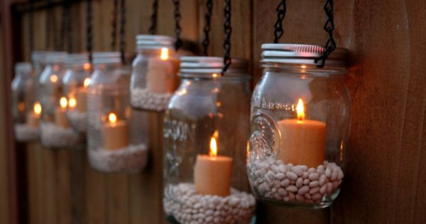 Mason Jar Lanterns Hanging Tea Light by TheCountryBarrel on Etsyy