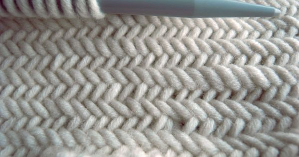 Knitting Inspiration - Herringbone Stitch knit stitch tutorial