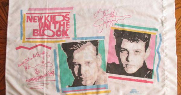 New Kids On The Block Pillowcase 90 S Boy Band New Kids
