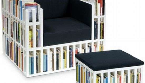 Simply outstanding a chair that is home to a mini library for Mini library at home