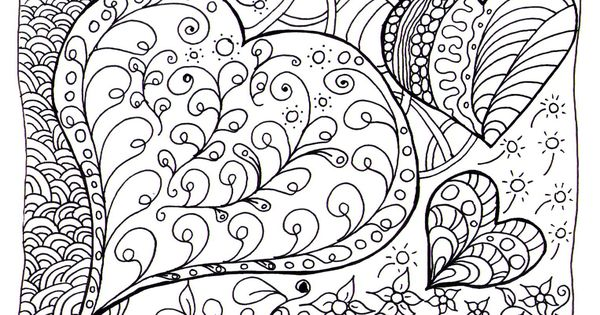 zen hearts intricate coloring page free coloring page 171 coloring zen 187 coloring 7366