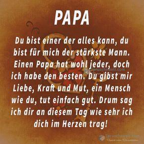 Papa Du Bist Einer Der Alles Kann Vater Sprüche