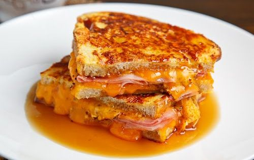 Monte Cristo by Closet Cooking: Breakfast Grilled Cheese Sandwich (Cooked French Toast