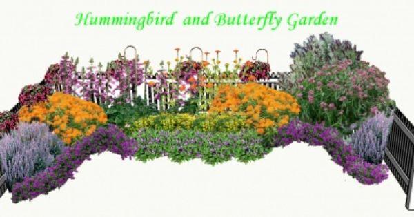 Butterfly and hummingbird garden plans hummingbird and - Butterfly and hummingbird garden designs ...