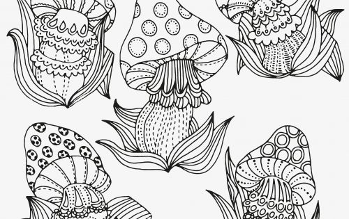 fantasy mushroom coloring pages - photo#9