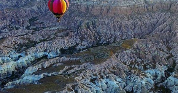 SEE?!?! Hot air balloon ride. The cliffs outside of Cappadocia/Kapadokya.